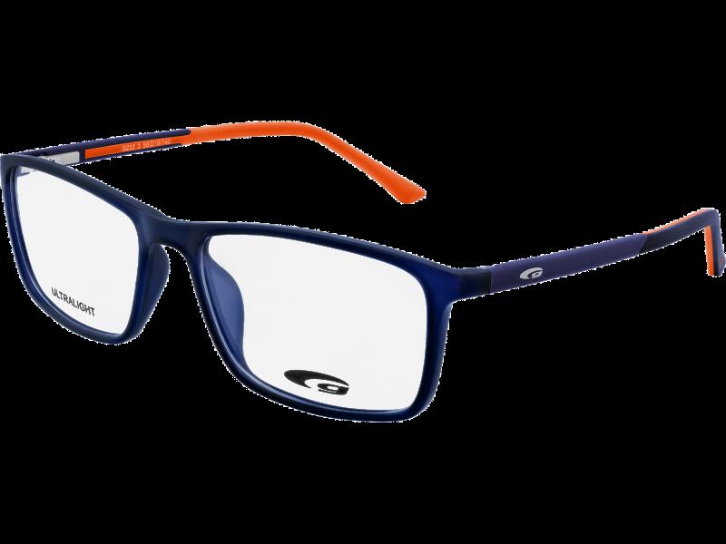 TULSA G232-2 ULTRALIGHT matt navy blue / orange - Goggle
