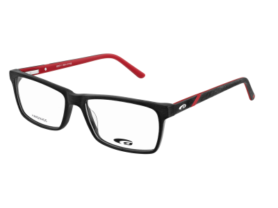 DENVER G357-1 HANDMADE matt black / red