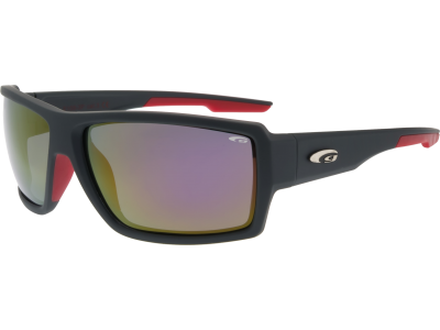 NOBE E108-3P polycarbonate matt dark grey / red