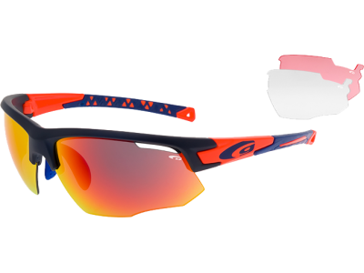 JUNO E636-4 polycarbonate matt navy blue / neon orange