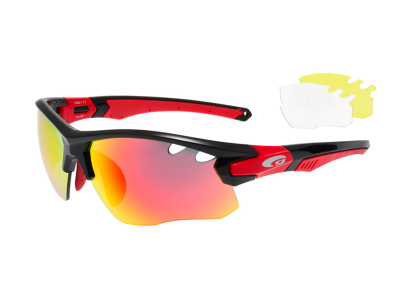 PREDATOR E858-3 polycarbonate black / red