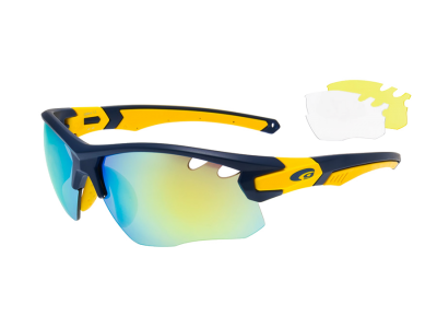 PREDATOR E858-4 polycarbonate matt blue / matt yellow