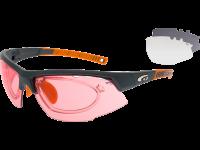 FALCON ULTRA E864-2R grilamid TR90 matt dark grey / orange