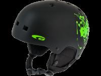 S480-1 HARD SHELL ABS + EPS matt black / green