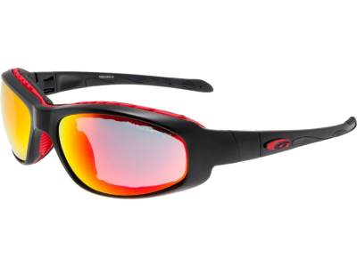 PEVRO T433-2 polycarbonate matt black / red
